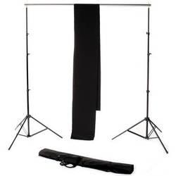 Backdrop Alley Studio Kit with Muslin Backdrop (10 x 12', Black)