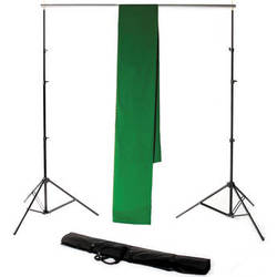 Backdrop Alley STDKT-12G Studio Stand with Chroma-Key Green Background Kit ( 10 x 12')