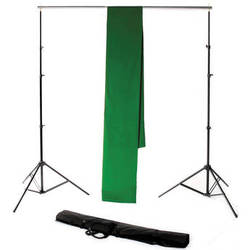Backdrop Alley STDKT-24G Studio Stand with Chroma-Key Green Background Kit ( 10 x 24')