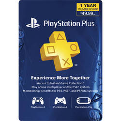 Sony PlayStation Plus 1-Year Membership Subscription Card