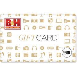 B&H Photo Video $200 Gift Card