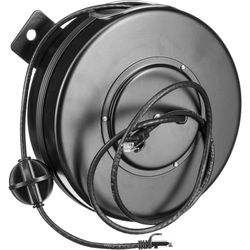 Stage Ninja Retractable CAT6 Cable Reel (40')