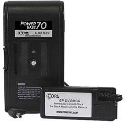 "Switronix PowerBase 70 Battery for Blackmagic Cinema Camera (12"" Cable)"