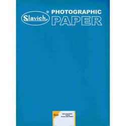 "Slavich 8 x 10"" Unibrom 160 PE Grade 3 RC Black & White Paper (100 Sheets, Smooth Glossy)"