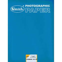 """Slavich 12 x 16"""" Unibrom 160 BP Grade FB Black & White Paper (100 Sheets, Single Weight, Smooth Glossy)"""