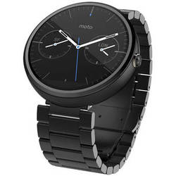 Motorola Moto 360 Smartwatch (Dark Finish, Dark Stainless Steel Band, Regular Fit)