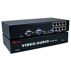 QVS VAC5-EX8 VGA/QXGA/Stereo Audio over CAT5e Transmitter Module with Local VGA/Audio & 8 RJ45 Ports (984')