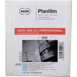 "Adox CMS 20 II Professional 4 x 5"" Black and White Negative Film (50 Sheets)"