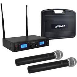 Pyle Pro PDWM3360 Dual Handheld UHF Wireless Microphone System