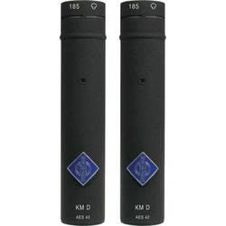 Neumann KM 185 D NX Hypercardioid Digital Microphone with AES/EBU Output (Stereo Pair, Nextel Black)