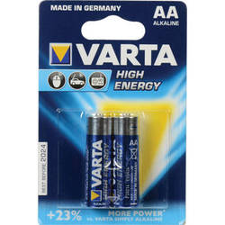 Varta High-Energy 1.5V AA LR6 Alkaline Battery (2-Pack)