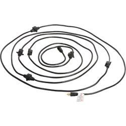 Milspec 14-Gauge Multi-Outlet Power Cable (32.5', Black)