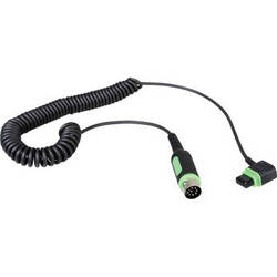 Phottix Coiled Cable for Indra Battery Pack or AC Adapter to Canon Speedlites