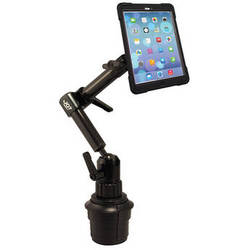 The Joy Factory MagConnect Carbon Fiber Cupholder Mount with aXtion Bold M-Series Case for iPad mini 1/2/3