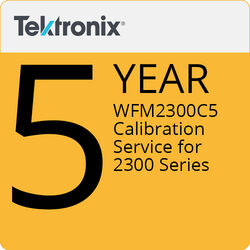 Tektronix WFM2300C5 5-Year Calibration Service for 2300 Series