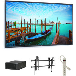 "NEC 55"" Digital Signage Kit with Mvix Xhibit Live HDTV and Landscape Wall-Mount"