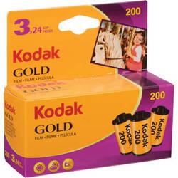 Kodak GOLD 200 Color Negative Film (35mm Roll Film, 24 Exposures, 3-Pack)