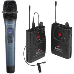 Polsen UHF ENG Handheld and Lavalier Microphone Kit with PL-4 Lav (584.400 to 602.450 MHz)