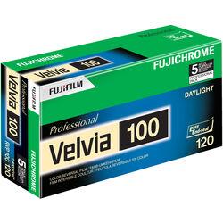 Fujifilm Fujichrome Velvia 100 Professional RVP 100 Color Transparency Film (120 Roll Film, 5 Pack)