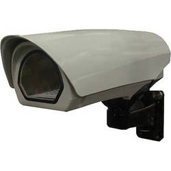 """Panasonic 10"""" Rugged Wall Mount Environmental Outdoor Housing with Heater/Blower & Sunshield for Fixed Cameras"""