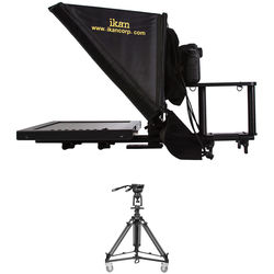 "ikan 15"" Teleprompter with Pneumatic Pedestal System for Cameras Weighing up to 18 Pounds"