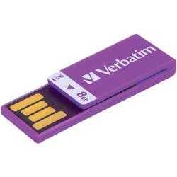 Verbatim 8GB Clip-It USB Flash Drive (Violet)