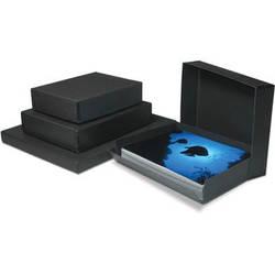 "Print File Drop-Front Metal Edge Archival Storage Box (Black, 11.5 x 14.5 x 3"")"