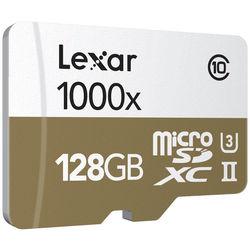 Lexar 128GB Professional UHS-II 1000x microSDXC Memory Card (Class 10, U3)