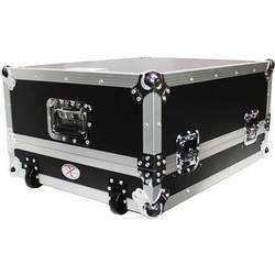 "ProX XS-19MIX14ULTHW 19"" Slant Rackmount Case (14 RU, Silver on Black)"