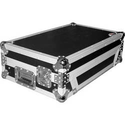 ProX Flight Case For Numark MixDeck Quad Controller with Laptop Shelf (Silver-on-Black)