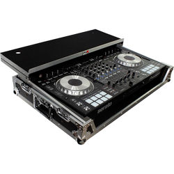 ProX Flight Case for Pioneer DDJ-SZ and DDJ-SZ2 Controllers with Laptop Shelf and Wheels (Silver on Black)