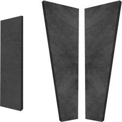 Auralex S3HT SonoSuede HT Sound Absorption System (8 Black Trapezoid Panels, 4 Black Corner Panels)