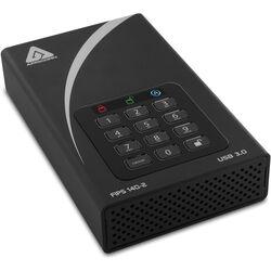 "Apricorn 3.5"" Aegis 2TB Padlock DT FIPS External Desktop Drive"