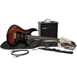 Yamaha Gigmaker Electric Bundle - Pacifica PAC012 Electric Guitar & 15-Watt Amplifier with Accessories (Old Violin Sunburst)