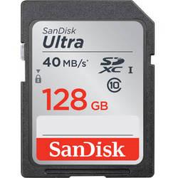 SanDisk 128GB Ultra UHS-I SDXC Memory Card (Class 10)