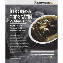 """Inkpress Media Fiber Satin Warm Tone Paper (17 x 22"""", 25 Sheets)"""