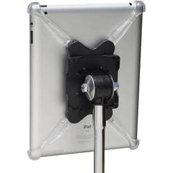 TheGigEasy Mic Stand Mount for iPad 2/3/4 (Clear Arms, Black Body)