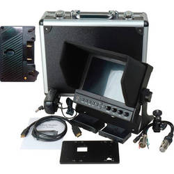 """Delvcam DELV-WFORM7SDIVM 7"""" Camera-Top SDI Monitor with Video Waveform and Gold Mount Battery Plate"""