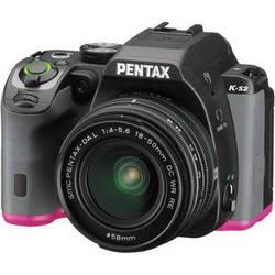 Pentax K-S2 DSLR Camera with 18-50mm Lens (Black/Pink)