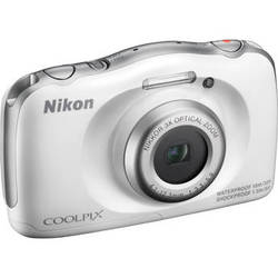 Nikon COOLPIX S33 Digital Camera (White)