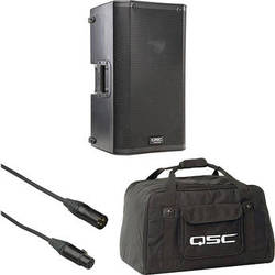 """QSC QSC K10 10"""" 1000W Powered Speaker with Soft Carry Bag and Cable Kit"""