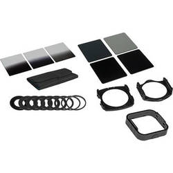 General Brand 84mm Solid & Graduated Neutral Density 7 Filter Kit with Adapter Rings