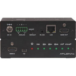 Atlona 4K/UHD HDMI Multi-Channel Digital to Two-Channel Balanced Analog Audio Converter