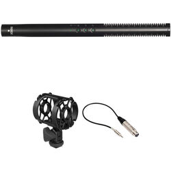 Rode NTG4+ Shotgun Microphone with Shockmount and XLR-3F to 3.5mm TRS Cable Cable Kit