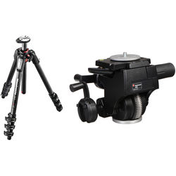 Manfrotto MT055CXPRO4 Carbon Fiber Tripod with 400 HD Geared Head