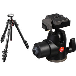 Manfrotto MT055CXPRO4 Carbon Fiber Tripod with 468MGRC2 Hydrostatic Ball Head