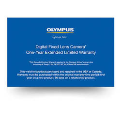 Olympus Digital Fixed Lens Camera 1-Year Extended Limited Warranty