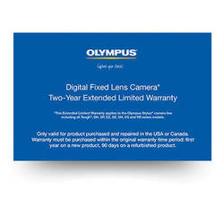 Olympus Digital Fixed Lens Camera 2-Year Extended Limited Warranty