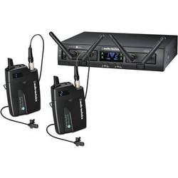 Audio-Technica ATW-1311L System 10 PRO Rack-Mount Digital Dual Lavalier Mic System (2.4 GHz)