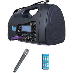 HamiltonBuhl Venu-80 Portable PA System with USB/SD/FM/MP3 and Wireless Handheld Microphone